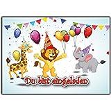 12 Einladungskarten Zum Kindergeburtstag Wilde Tiere Geburtstagseinladungen Einladungen  Geburtstag Kinder Jungen Mädchen Zoo Tiere