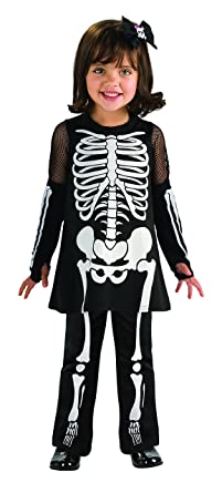 Amazon.com Rubieu0027s Cute As You Can Be Skeleton Girl Toddler Costume - Toddler (1-2 Years) Clothing  sc 1 st  Amazon.com & Amazon.com: Rubieu0027s Cute As You Can Be Skeleton Girl Toddler Costume ...
