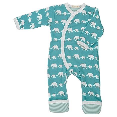 Orgánicas de/en forma de paloma Impresión de pijama Mono corto de que se reflejan