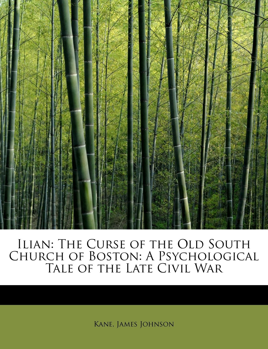 Ilian: The Curse of the Old South Church of Boston: A Psychological Tale of the Late Civil War pdf epub
