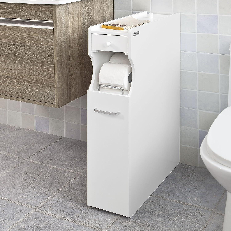 SoBuy® Badregal Nischenregal Standschrank Seitenschrank weiß FRG50-W