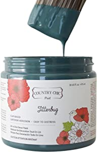 Chalk Style Paint - For Furniture, Home Decor, Crafts - Eco-Friendly - All-In-One - No Wax Needed (Jitterbug [dark teal], Pint (16 oz))