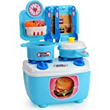 WISHKEY Kitchen Play Set Accessories Bring Along Cooking Set for Kids