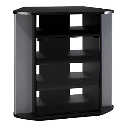 black corner tv stand Amazon.com: Bush Furniture Visions Tall Corner TV Stand in Black  black corner tv stand