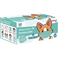 Best Trading 50 Cubrebocas Infantiles Unisex, Tapabocas Tricapa para Niño y para Niña, Calidad Premium con Diseños y…