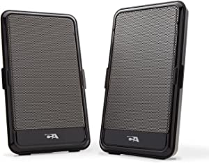 2.0 Portable USB computer speaker - perfect for laptop music, movies or gaming on the go, by Cyber Acoustics (CA-2988),Black