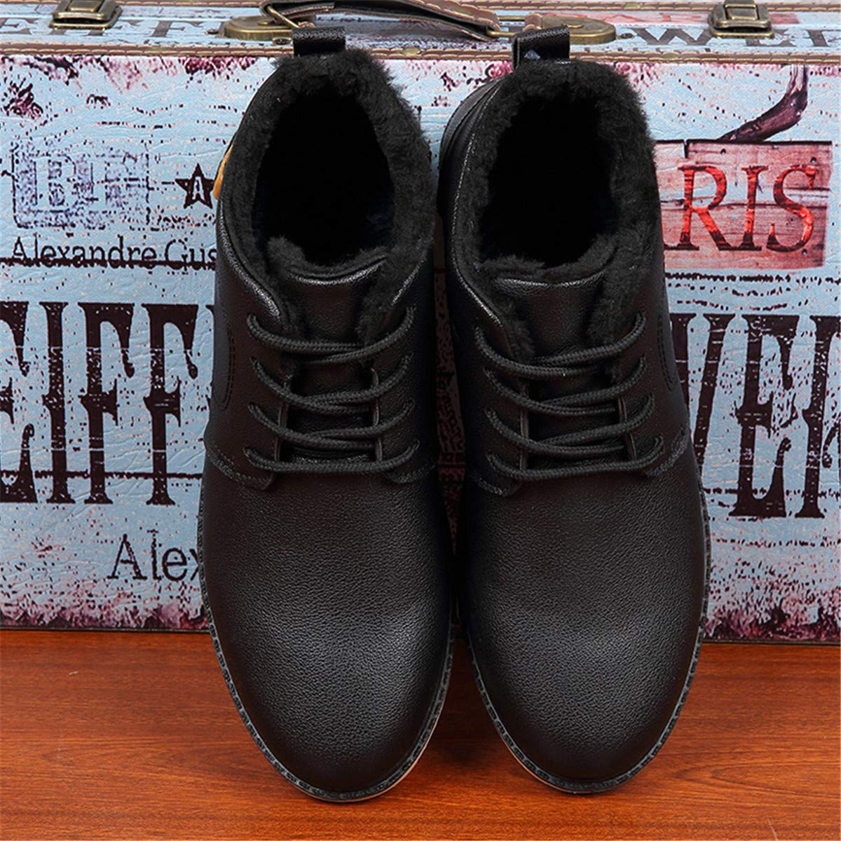 Bxingxianx Men Winter Snow Boots for Men Warm Shoes with Fur Mens Ankle Boots