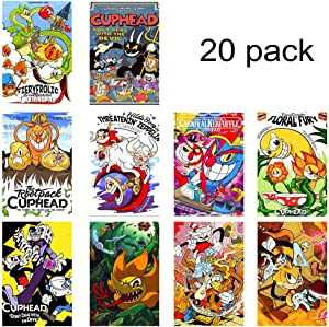 GTOTd Stickers for Cupheader 20-Pcs, Stickers Decals Vinyls for Laptop,Waterbottle,Gift,Teens, Collection,Skate Board