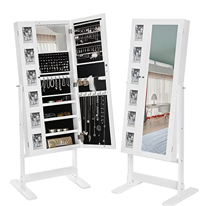 Amazoncom SONGMICS Large Jewelry Cabinet with Mirror 18 LEDs