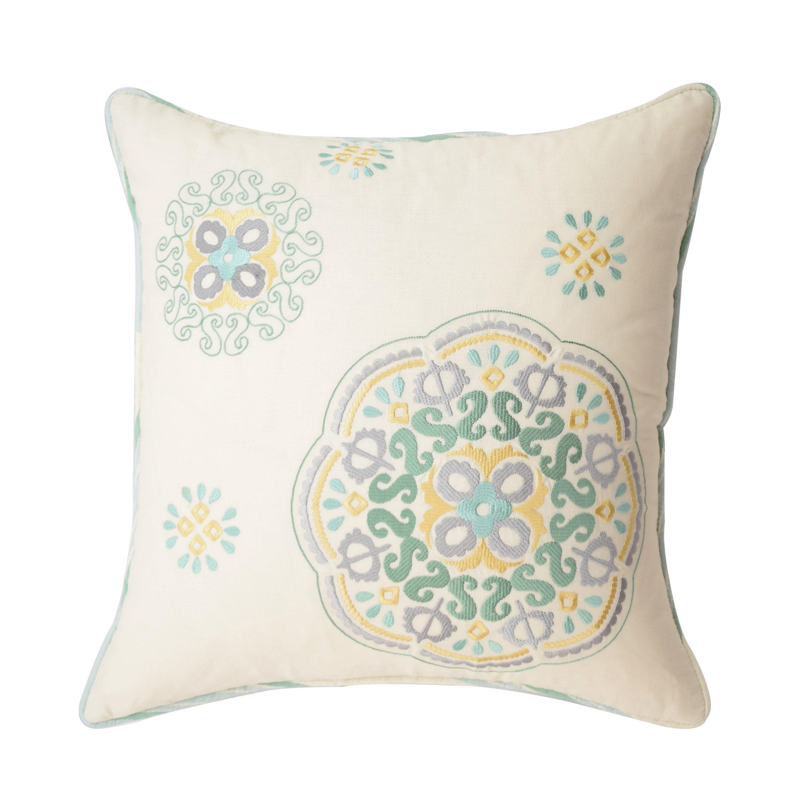 WAVERLY Astrid Decorative Pillow, 16x16, Mineral