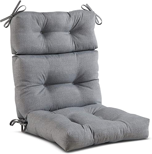 South Pine Porch AM4809-HEATHER Heather Gray Outdoor High Back Chair Cushion