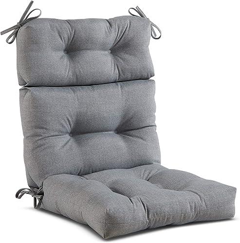 Greendale Home Fashions AZ4809-HEATHER Cement 44'' x 22'' Outdoor Seat/Back Chair Cushion - a good cheap outdoor chair cushion
