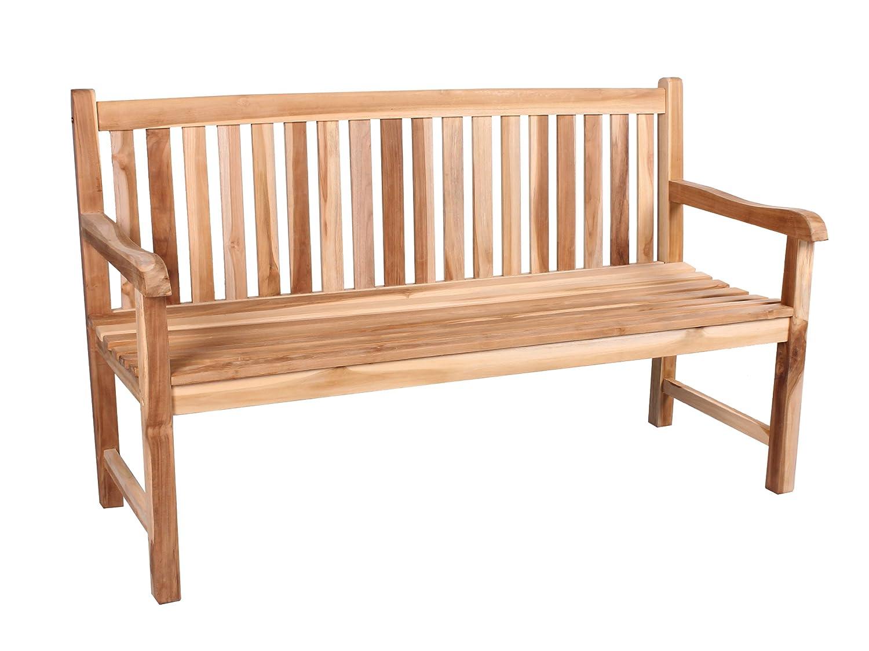 trendy home24 massive stabile 3er teakbank 3 sitzer 150 cm. Black Bedroom Furniture Sets. Home Design Ideas