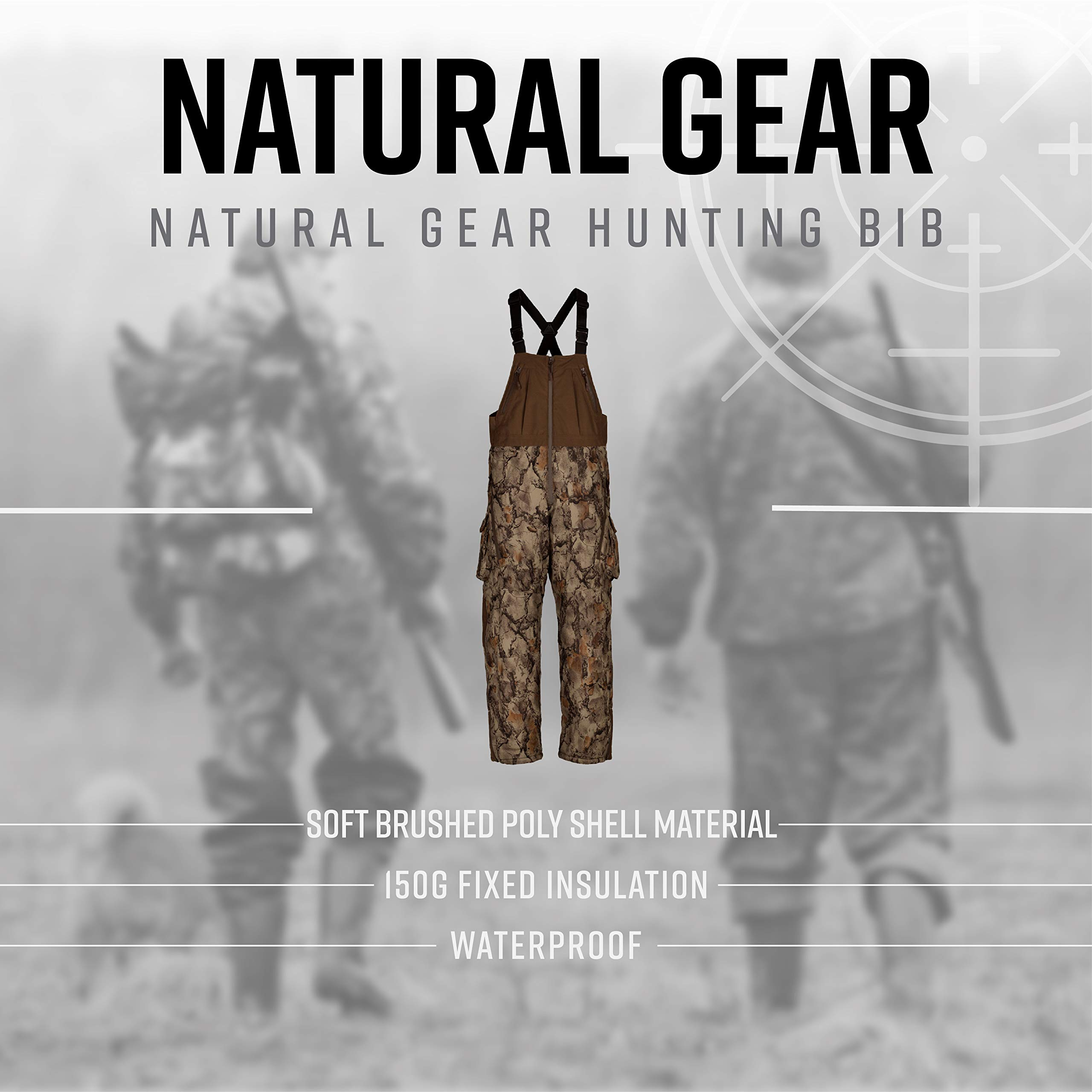 23ccc0e96b6f6 ... Natural Gear Stealth Hunter Grand Stand Bibs for Men, Insulated and  Waterproof Camo Hunting Overalls. 🔍. Previous. Next