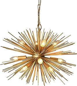 AA Warehousing Y-Décor 12 Light Gold finish Chandelier