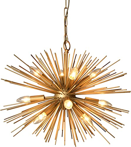 AA Warehousing Y-D cor 12 Light Gold Finish Chandelier