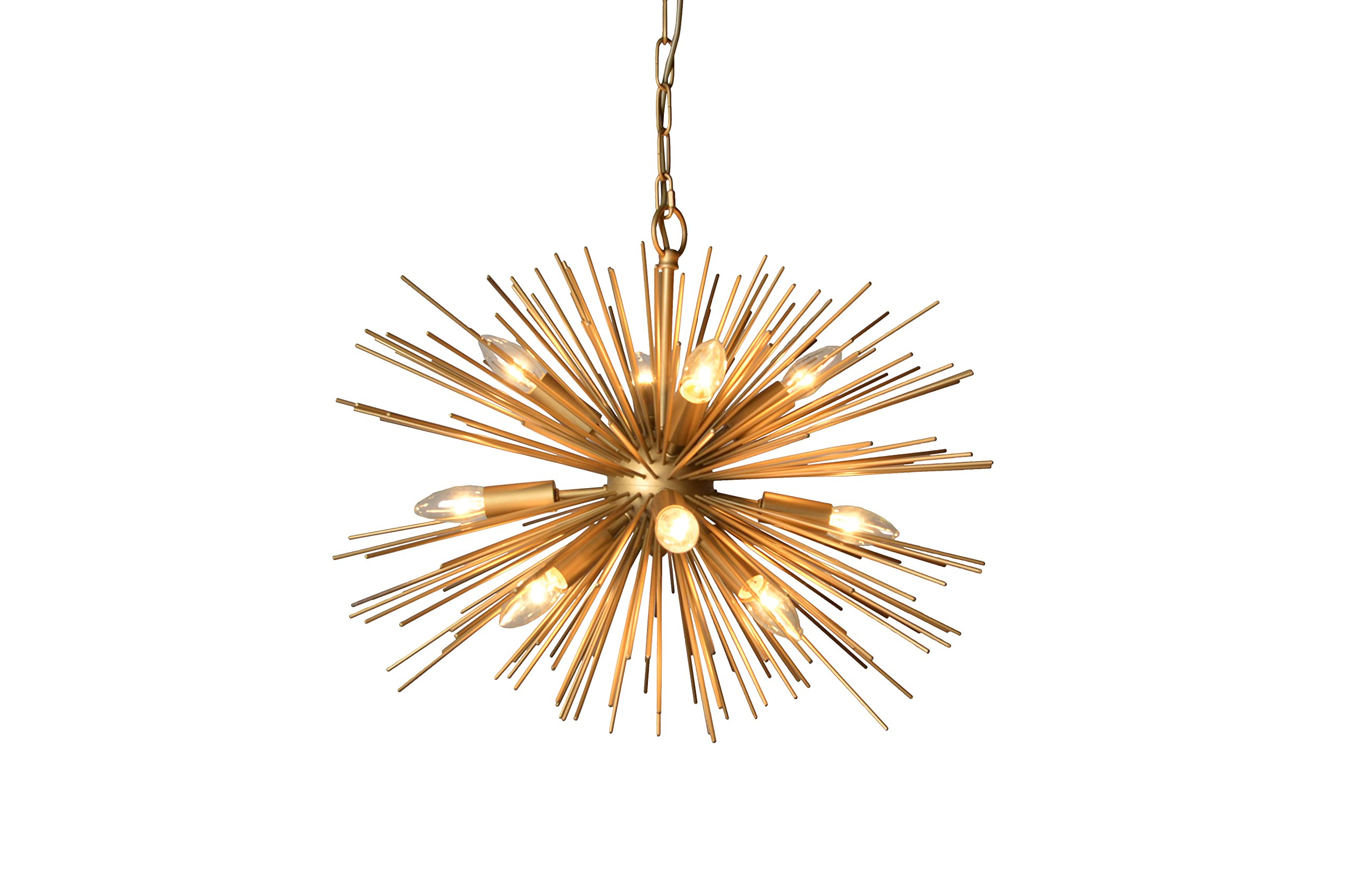 Y-Decor LZ3349-12 Light Chandelier in Gold Finish