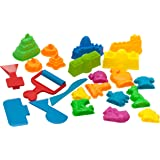 USA Toyz Play Sand Toys for Kids - 23 Pc Kids Sand Toys Play Sand Kit with Play Sand Castle Molds + 5 Magic Sand Art Tools for Kinetic Play Sand