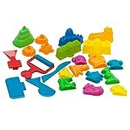 USA Toyz Play Sand Toys for Kids - 23 Pc Kids Sand Toys Play Sand Kit with Play Sand Castle Molds + 5 Magic Sand Art Tools for Kinetic Play Sand