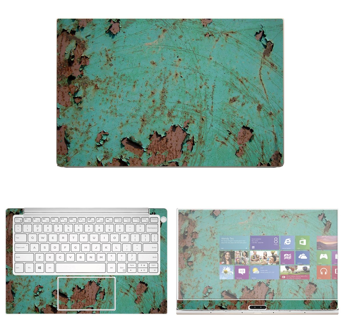 decalrus - Protective Decal Rust Skin Sticker for Dell XPS 13 9370 (13'' Screen) case Cover wrap DExps13_9370-111
