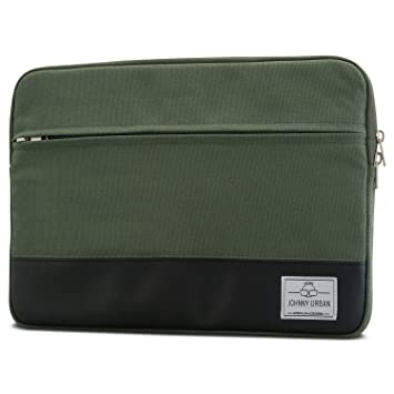 "Funda portátil 14 Pulgadas/MacBook Pro 15"" Verde - Johnny Urban de Lona Bolso"