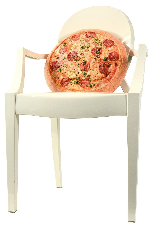 United Labels 0118500 - Cojín con diseño de pizza (diámetro 40 cm)