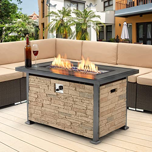 U-MAX Outdoor Propane Gas Fire Pit Table