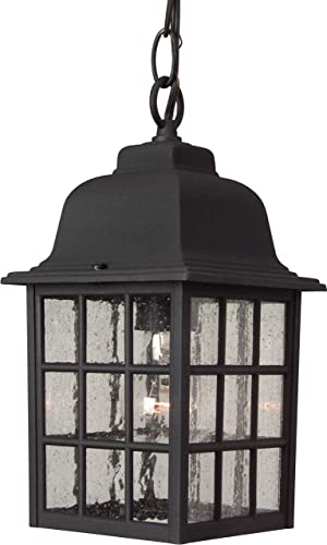 Craftmade Z271-TB Grid Cage Outdoor Ceiling Pendant Lighting, 1-Light 100 Watt 6 W x 11 H , Textured Matte Black