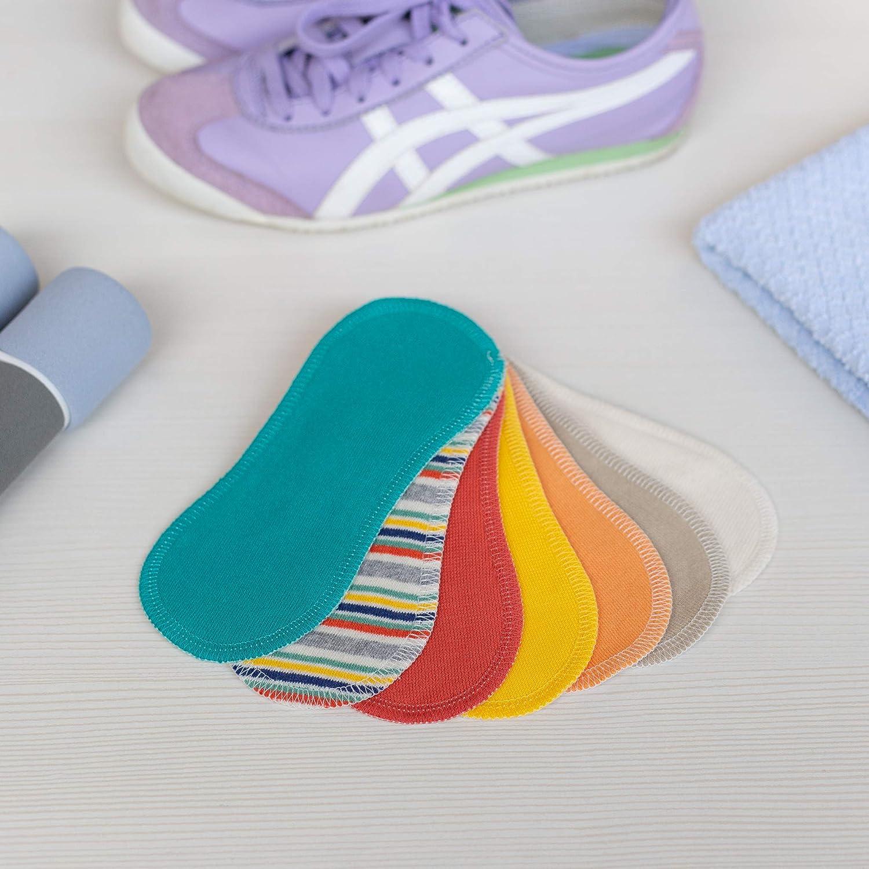 Protege Slips de tela reutilizables, pack de 7 salvaslips lavables de algodón orgánico con alas, HECHAS EN LA UE, para el uso diario y descarga vaginal; ...