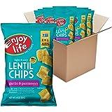 Enjoy Life Lentil Chips, Soy free, Nut free, Gluten free, Dairy free, Non GMO, Vegan, Garlic & Parmesan, 4 Ounce Bag