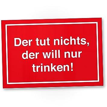 Heute Betreutes Trinken - Schild, Schild mit Spruch für Bar ...