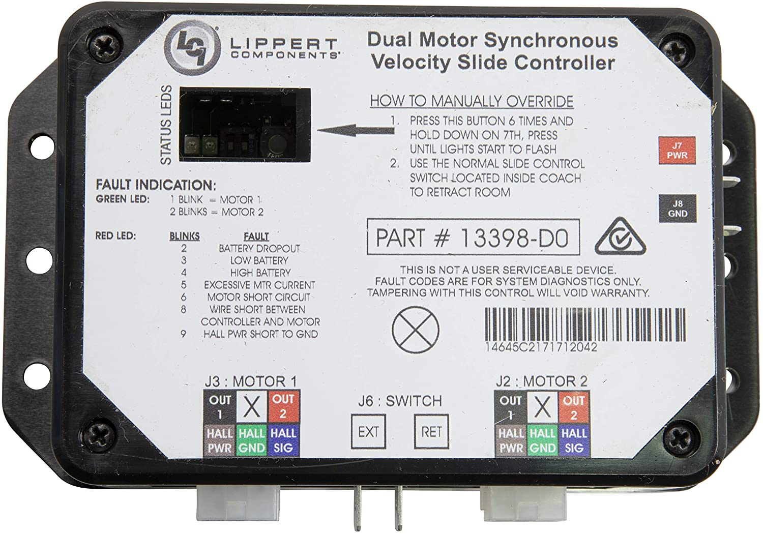 Lippert Components in-Wall Slide-Out Controller V-Sync II