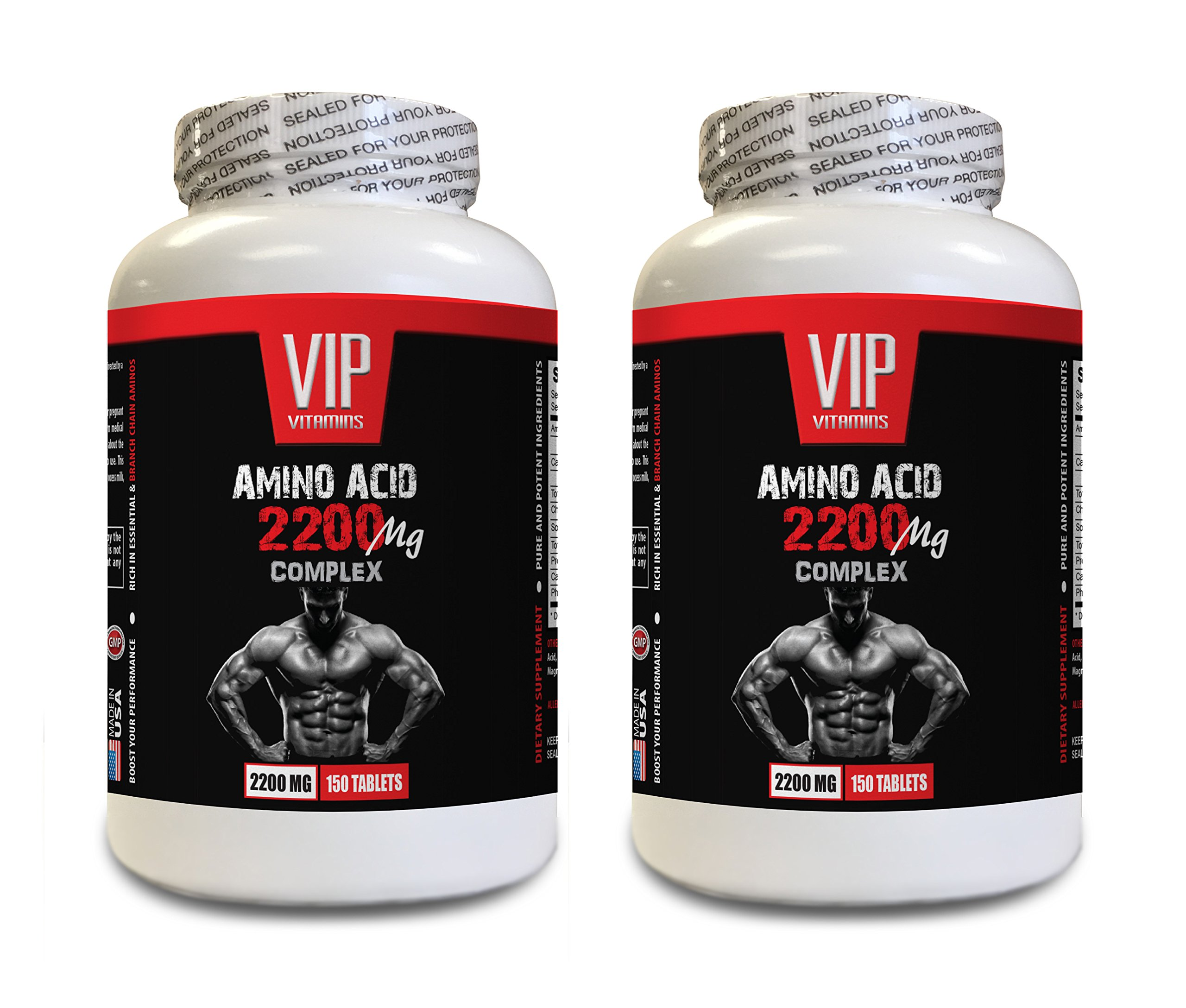 pre workout with l carnitine - AMINO ACIDS COMPLEX 2200 MG - amino acids muscle building - 2 Bottles 300 Tablets