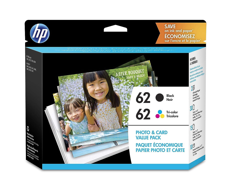HP 62 Negro y Tri-color cartuchos de tinta Original con papel ...