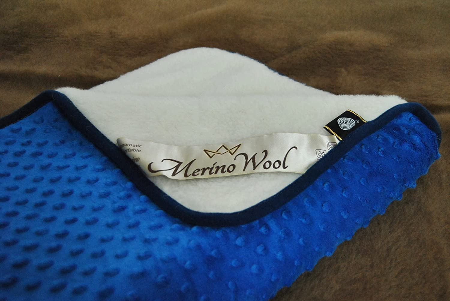 All Sizes Wool Duvet Natural 75x100cm, Blue WOOLAMRKED MERINO WOOL Baby Blanket Cashmere Blanket Perfect for Gift COT Bed Blanket Baby Duvet Toddler 2 in 1