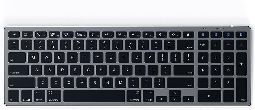 Satechi Teclado Inalámbrico Delgado Bluetooth Aluminio con Keypad Numérico - Compatible con iMac Pro/iMac, 2018 Mac Mini, 2019 MacBook Pro, 2018 ...