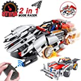 morwant STEM Remote Control Building Ages 6-12, 2-in-1 Racing Car Models (326pcs)