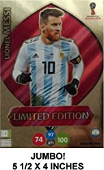 7eeccbcef4a LIONEL MESSI Jumbo XXL Limited Edition Panini 2018 WORLD CUP RUSSIA  Adrenalyn XL Soccer Card.