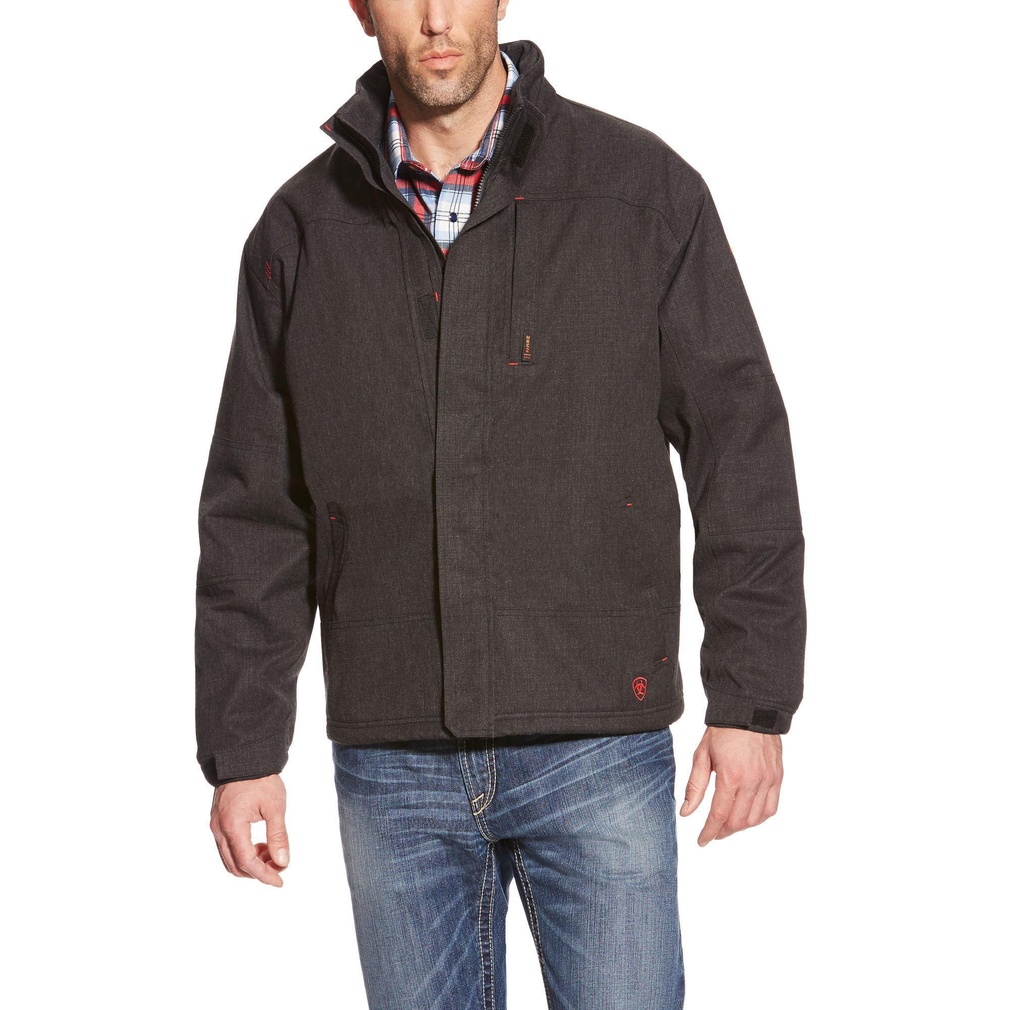 Ariat Men's Big and Tall Flame Resistant H2o Proof Jacket, Black, XXL