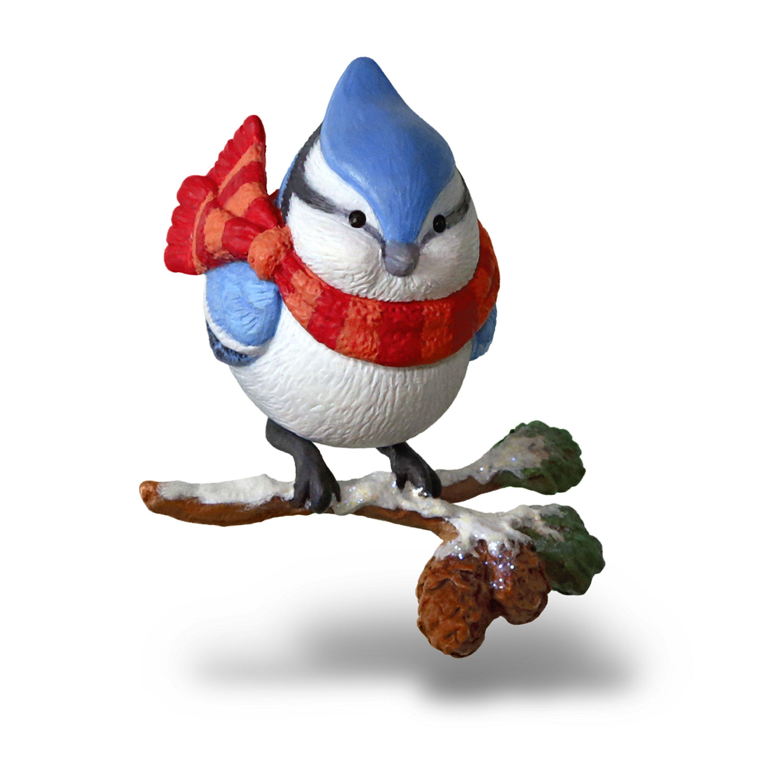 Hallmark Keepsake Christmas Ornament 2018 Year Dated, Cozy Critters Blue Jay