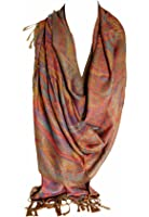 Beautiful Paisley Ethnic Print Pashmina Feel Wrap Shawl Scarf Scarves Hijab in Rich Colours