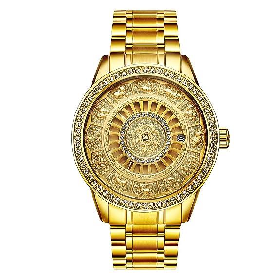 Diamante 12 Zodiac Relojes CasualesTevise Suiyouyu 9055g ZXiwPkTuOl