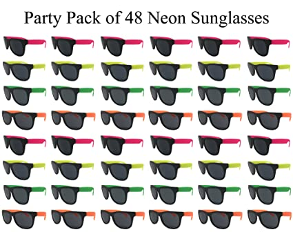 Amazon.com: The Gags Wholesale Party Pack-48 - Gafas de sol ...