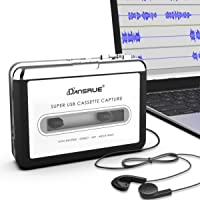 $28 » Dansrueus Updated Cassette to MP3 Converter, USB Cassette Player from Tapes to MP3, Digital…
