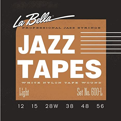 La Bella Jazz Tapes 600L, White Nylon, cuerdas para guitarra eléctrica/Jazz de