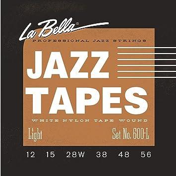 La Bella Jazz Tapes 600L, White Nylon, cuerdas para guitarra ...