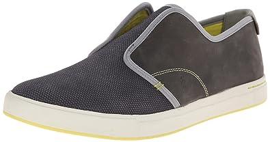 Ahnu Men's North Beach Leather Slip-On Loafer, Dark Grey, ...