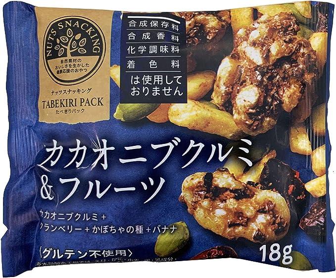 MD ナッツスナッキングTPカカオニブクルミ&フルーツ 18g ×12袋
