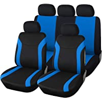 Upgrade4cars Fundas Asientos Coche Universales Azul Negro |