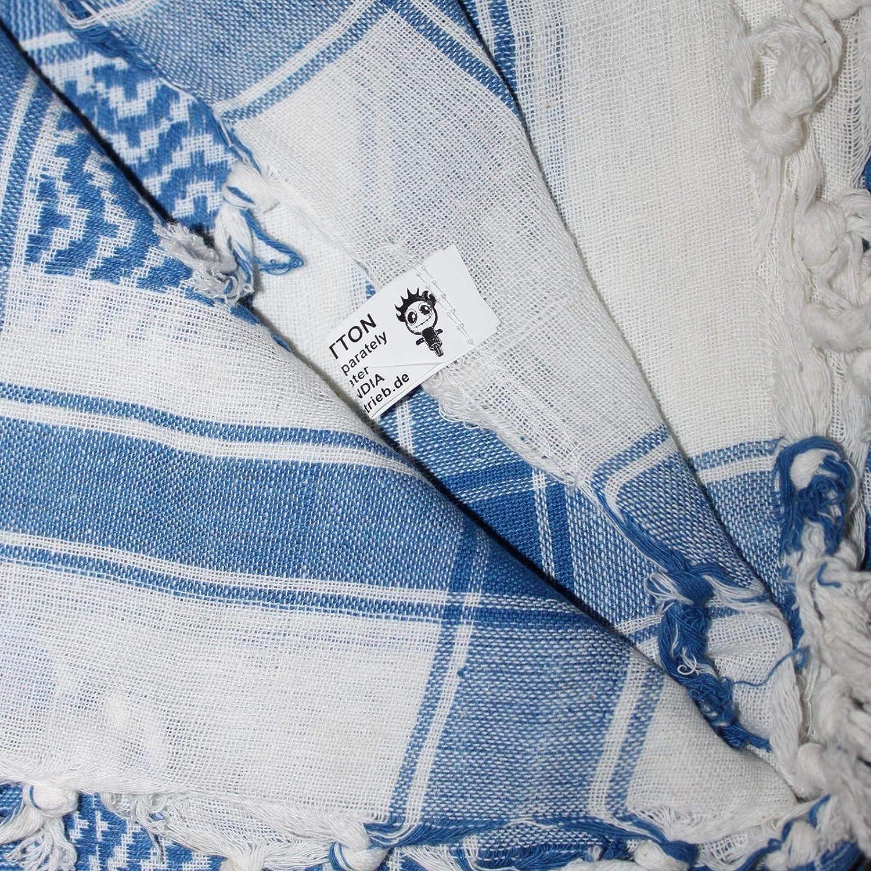 /¡Todos los colores! Superfreak/® Pa/ñuelo pali con color de base blanco/°chal PLO/°100x100 cm/°Pa/ñuelo palestino Arafat/°100/% algod/ón